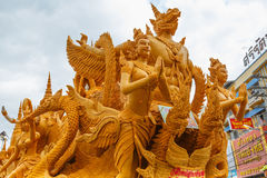 The traditional candle procession festival of Buddha. Stock Images