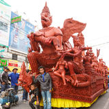The traditional candle procession festival of Buddha. Stock Photos