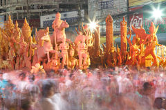 The traditional candle procession festival of Buddha. Stock Photography