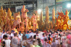 The traditional candle procession festival of Buddha. Royalty Free Stock Image