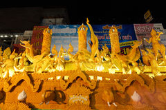 The traditional candle procession festival of Buddha. Stock Image