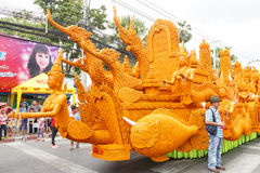 The traditional candle procession festival of Buddha. Royalty Free Stock Images