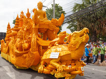 The traditional candle procession festival of Buddha. Royalty Free Stock Photography