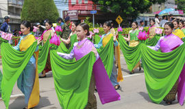 The traditional candle procession festival of Buddha Stock Photo