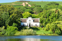 Traditional Cape Dutch House And Wine Estate Royalty Free Stock Images