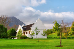 Traditional Cape Dutch house after rain Royalty Free Stock Images