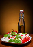 Traditional caprese salad Stock Photos