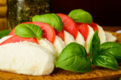 Traditional caprese salad Stock Photo