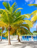Traditional caribbean houses Stock Photo