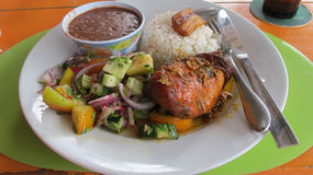 Traditional Caribbean Lunchtime Meal Royalty Free Stock Images
