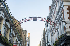 Traditional Carnaby street street sign Royalty Free Stock Photo