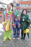 Traditional carnival in Germany. Costumed people during traditional German carnival: Wangener Narrensprung in Wangen / Allgaeu, Germany , on 16th Feb 2015 Royalty Free Stock Photos