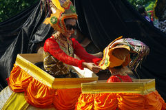 Traditional carnival in Indonesia Royalty Free Stock Photos