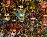 Traditional carnival masks in Venice. Sold in the streets everywhere, a symbol of Venice, a good souvenir or a present Stock Photos