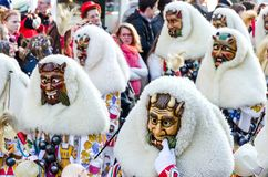 Traditional carnival parade in Southern Germany royalty free stock photo