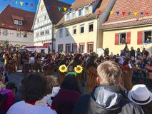 Traditional carnival procession in Germany Royalty Free Stock Photos
