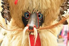 Traditional carnival on shrove Saturday with traditional figures. Traditional carnival on shrove Saturday with a traditional figures, known as kurent or korent royalty free stock photography