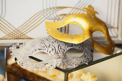 Traditional carnival venetian mask royalty free stock photo