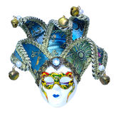 Traditional carnival Venetian mask. Isolated on a white background Stock Photos