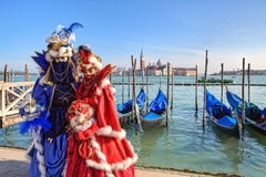 Traditional carnival in Venice, Italy. Royalty Free Stock Photos