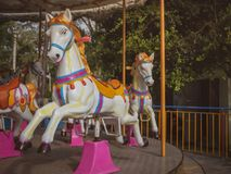 Carousel Horse. Traditional Carousel Horse on a Carnival Merry Go Round Stock Photography