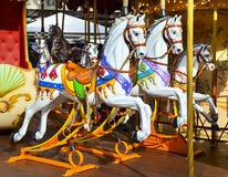 Traditional carousel with horses Royalty Free Stock Image