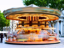 Traditional carousel with horses Stock Image