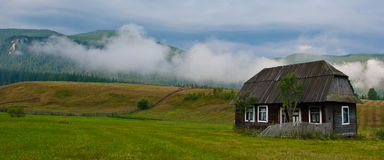 Traditional Carpathian Wood House Royalty Free Stock Images