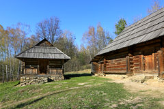 Traditional carpathian wooden house Royalty Free Stock Photos