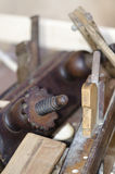 Traditional carpenter tools. Closeup of traditional woodworking tools royalty free stock image