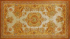 Traditional carpet pattern material texture Stock Images