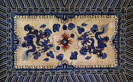 Traditional carpet pattern material texture Royalty Free Stock Photography