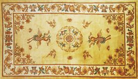 Traditional carpet pattern material texture Royalty Free Stock Images