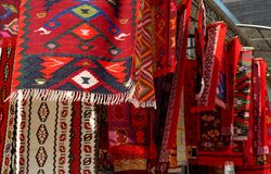 Traditional carpets in Istanbul Stock Photo