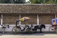 Traditional carriage lampang city north of thailand Royalty Free Stock Photos