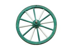 Traditional cart wooden wheel Royalty Free Stock Image