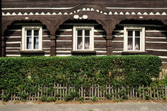 Traditional carved house, Czech Republic Stock Photos