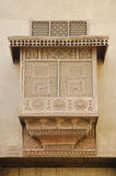 Traditional carved wood window in cairo egypt Stock Image
