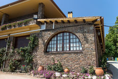 Traditional Catalan Masia, rustic house Stock Photography