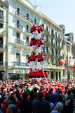 Traditional Catalan show - Castell Royalty Free Stock Photography