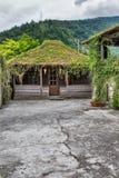 Traditional caucasian wicker hut Royalty Free Stock Photos