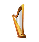 Traditional Celtic Harp Royalty Free Stock Photography