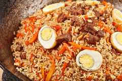 traditional central asia pilaf Royalty Free Stock Photo