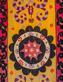 Traditional Central Asian embroidery Stock Image