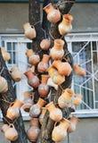Traditional ceramic handmade jugs Stock Photo