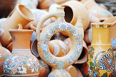 Traditional ceramic handmade jugs Royalty Free Stock Photos