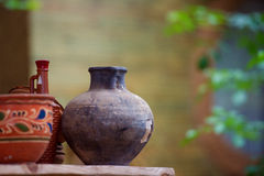 Traditional ceramic jugs Royalty Free Stock Photos