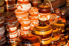 Traditional ceramic pots Stock Photos