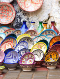 Traditional ceramic pottery in Morocco Royalty Free Stock Photo