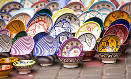 Traditional ceramic pottery in Morocco Stock Image